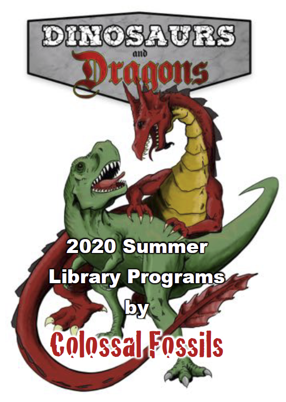 Brochure cover of dinosaur and dragon