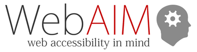 WebAIM: web accessibility in mind (logo)